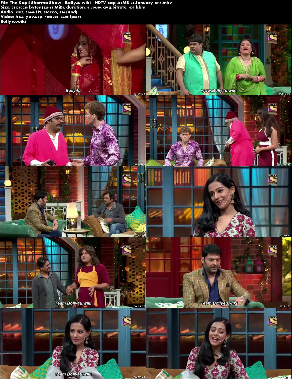 The Kapil Sharma Show HDTV 480p 200MB 20 January 2019 Download