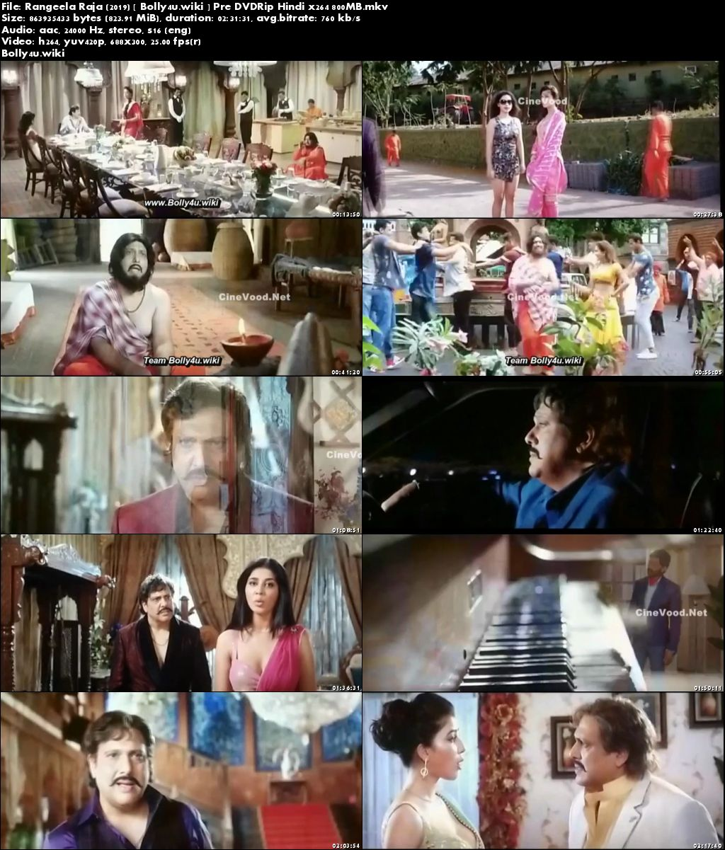 Rangeela Raja 2019 Pre DVDRip 400MB Full Hindi Movie Download 480p