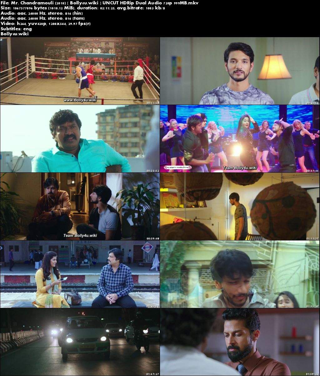 Mr Chandramouli 2018 HDRip 999MB UNCUT Hindi Dual Audio 720p Download