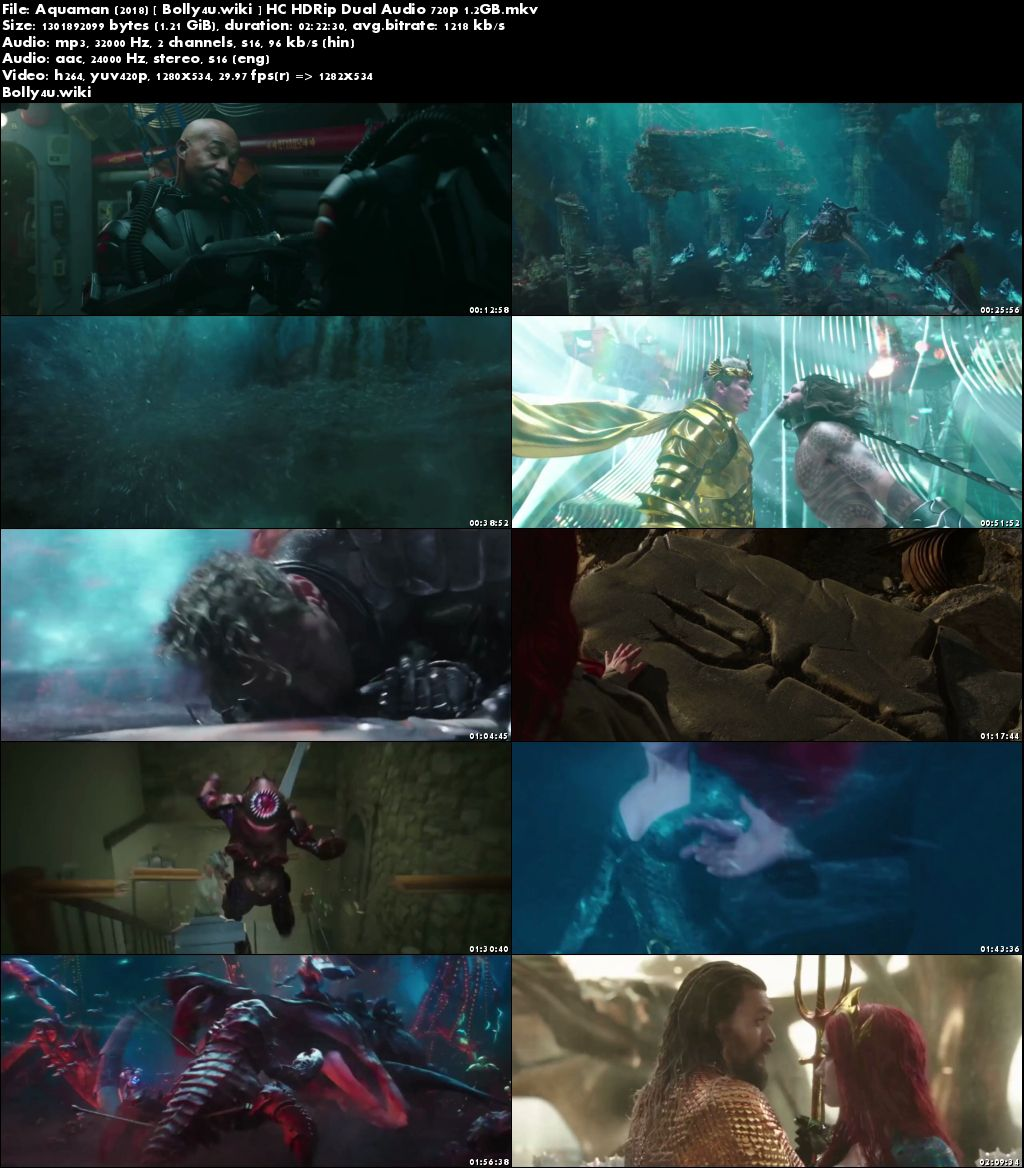 Aquaman 2018 HC HDRip 450MB Hindi Dubbed Dual Audio 480p Download