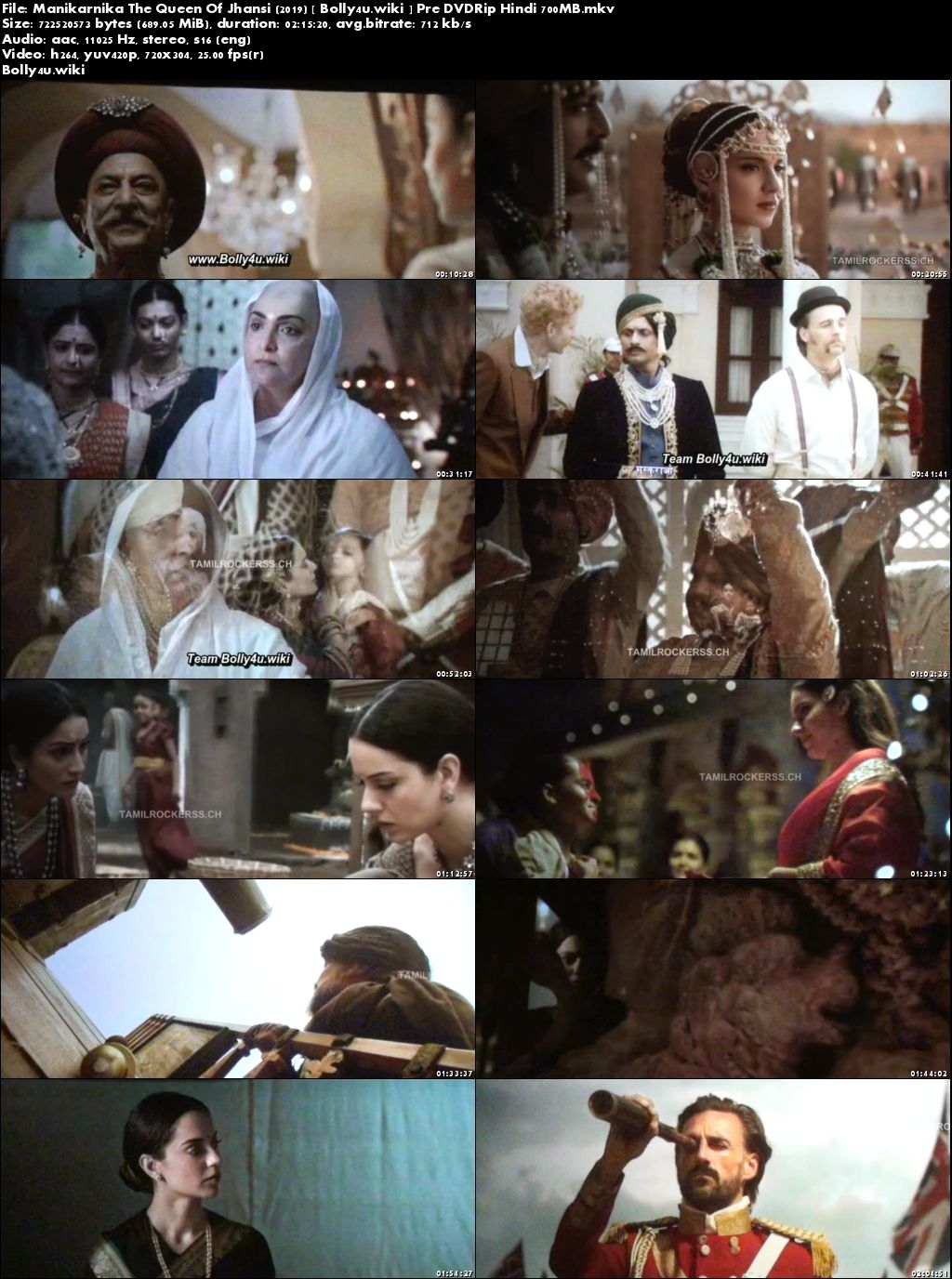 Manikarnika The Queen of Jhansi 2019 pDVDRip 400MB Full Hindi Movie Download 480p