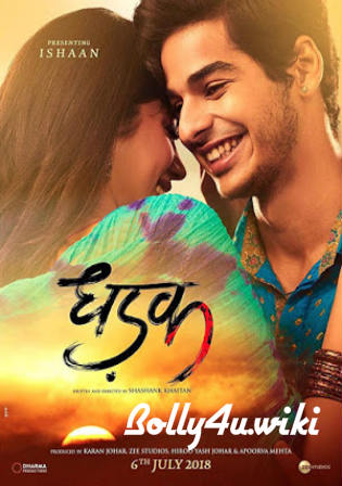 Dhadak 2018 BluRay 950Mb Full Hindi Movie Download 720p Watch Online Free bolly4u