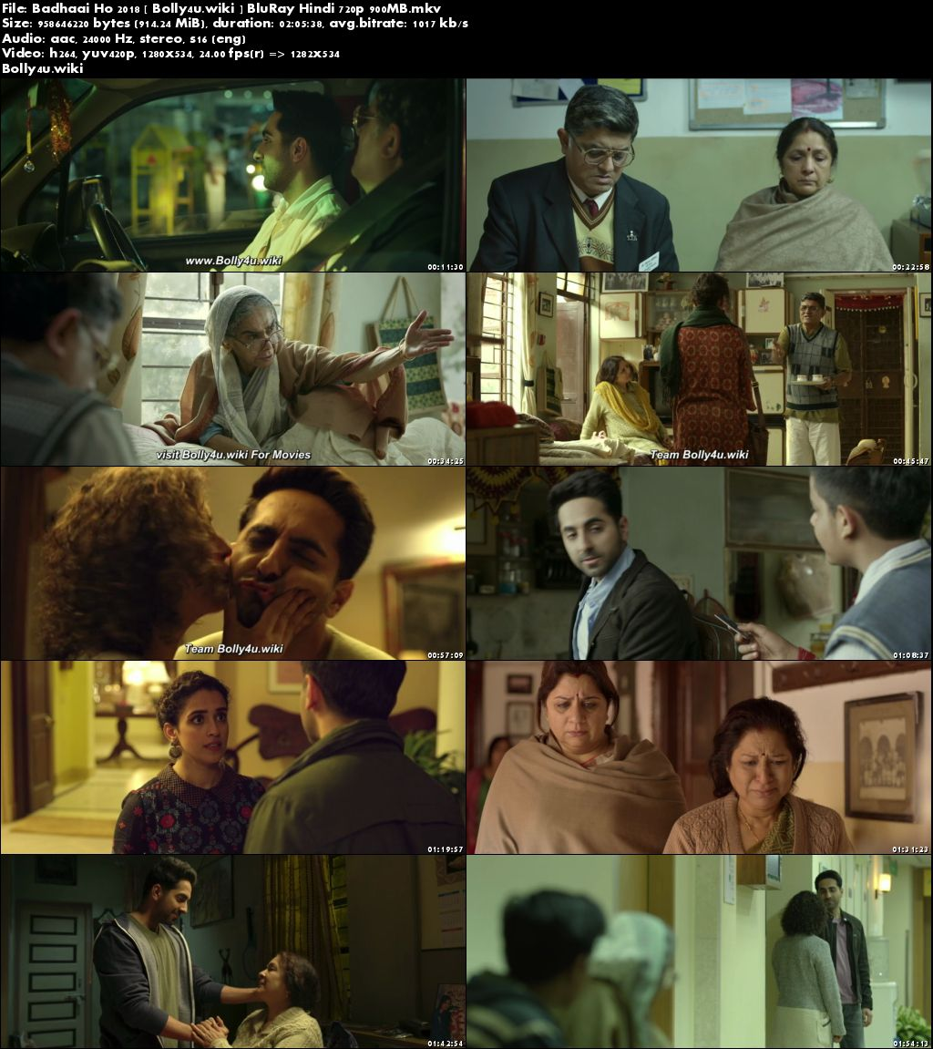 Badhaai Ho 2018 BluRay 900MB Full Hindi Movie Download 720p