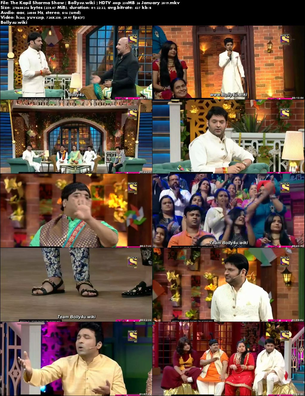 The Kapil Sharma Show HDTV 480p 250MB 26 January 2019 Download