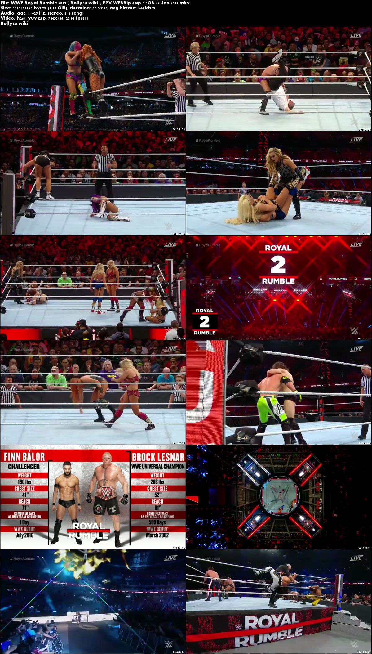 WWE Royal Rumble 2019 WEBRip 480p PPV 27 Jan 2019 Download