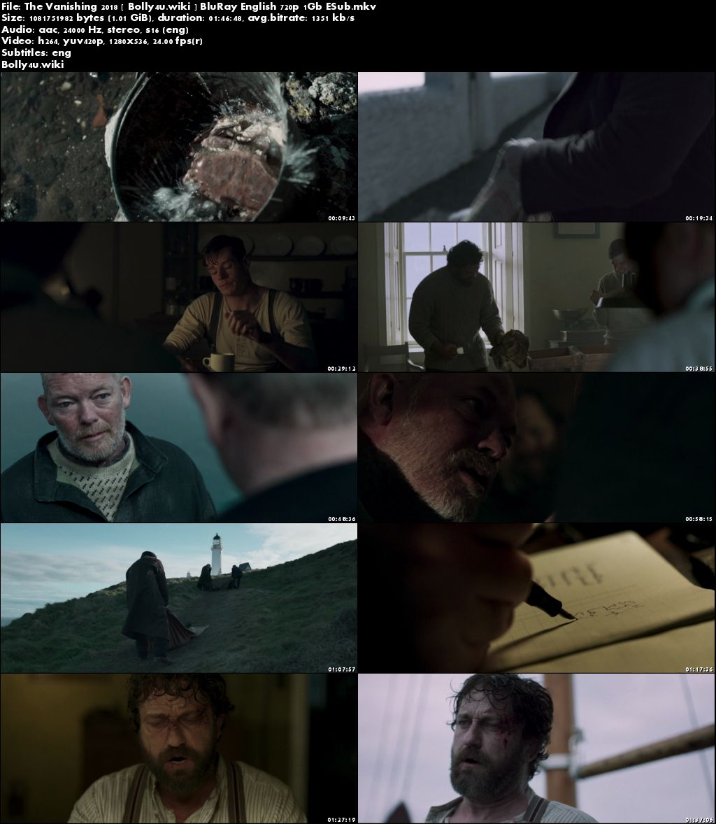 The Vanishing 2018 BRRip 300MB English 480p ESub Download