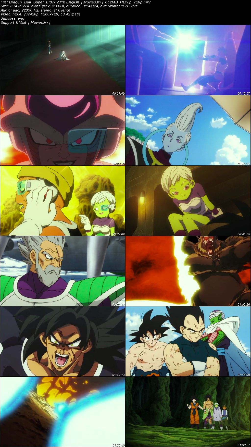 Watch Online Dragon Ball Super Broly 2018 Movie English 800MB HDRip 720p Esubs Full Movie Download 300mbMovies