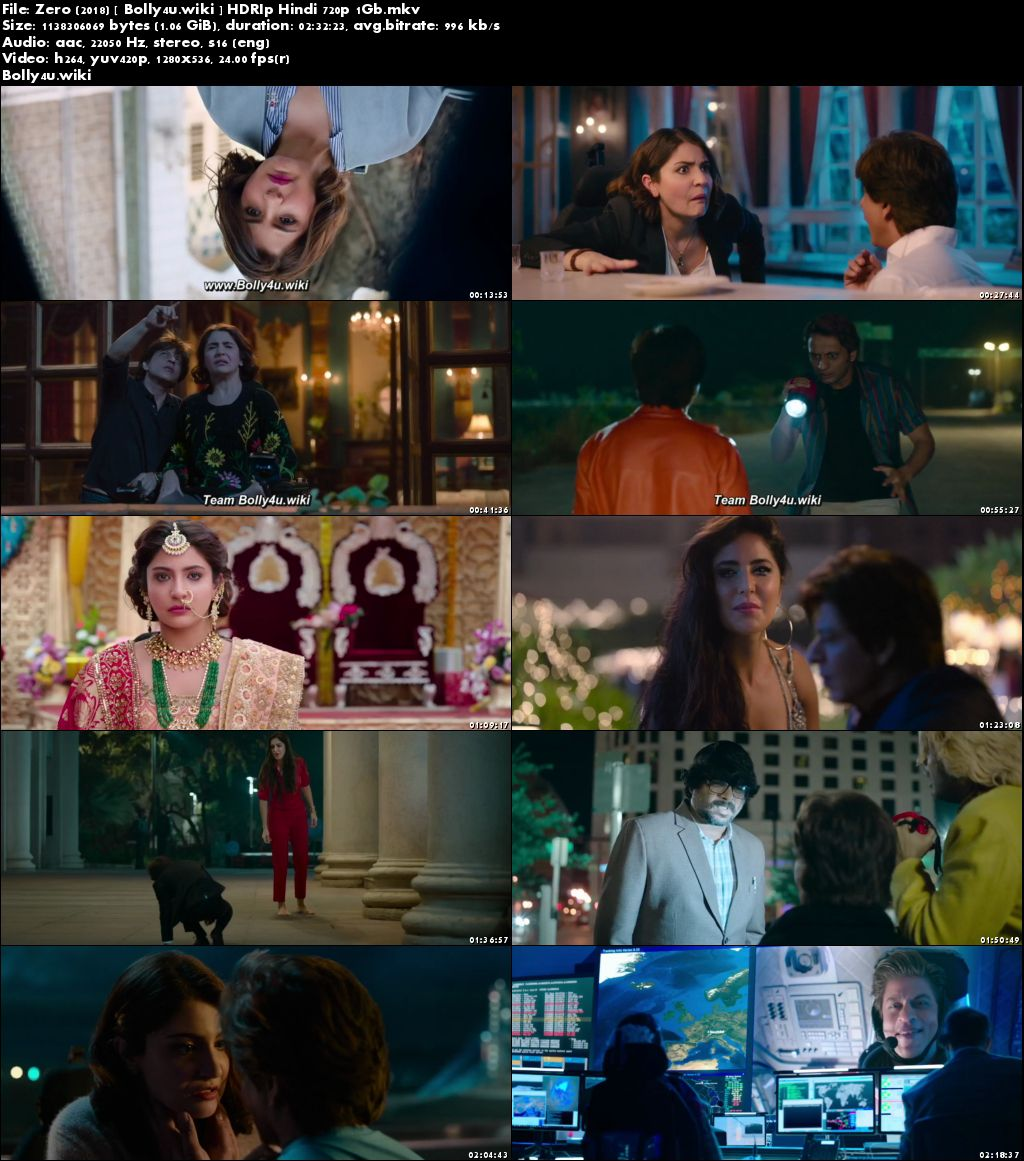 Zero 2018 HDRip 1Gb Full Hindi Movie Download 720p