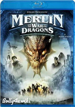Merlin And The War Of The Dragons 2008 BRRip 600MB Hindi Dual Audio 720p Watch Online Full Movie Download bolly4u