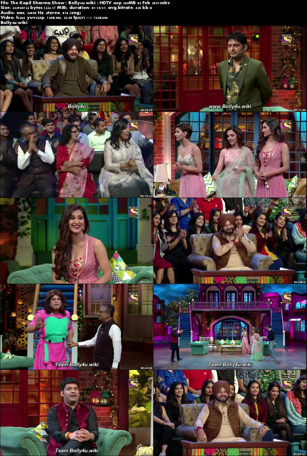 The Kapil Sharma Show HDTV 480p 200MB 03 Feb 2019 Download