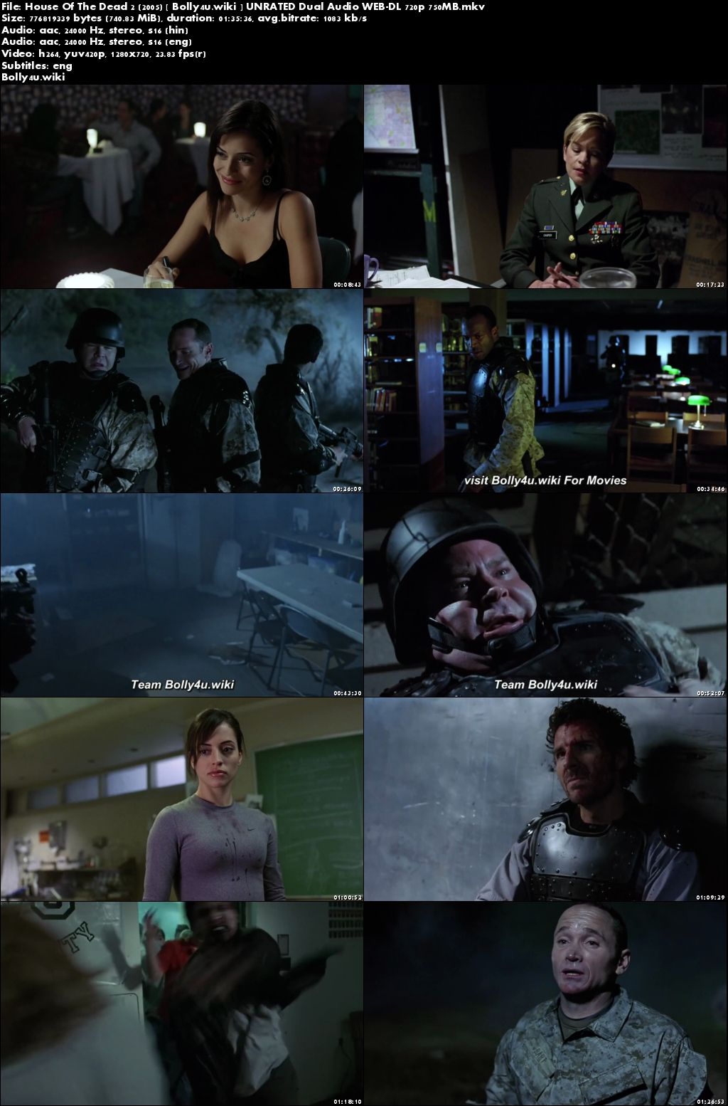House Of The Dead 2 2005 WEB-DL 300MB UNRATED Hindi Dual Audio 480p Download