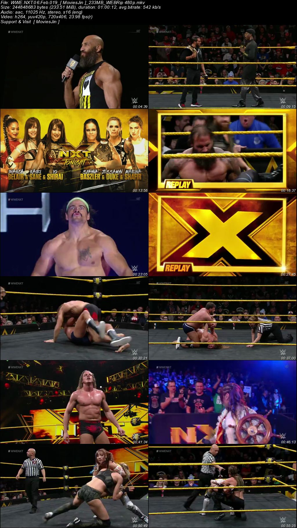 Watch Online WWE NXT 6th February 2019 250MB WEBRip 480p Full Download mkvcage