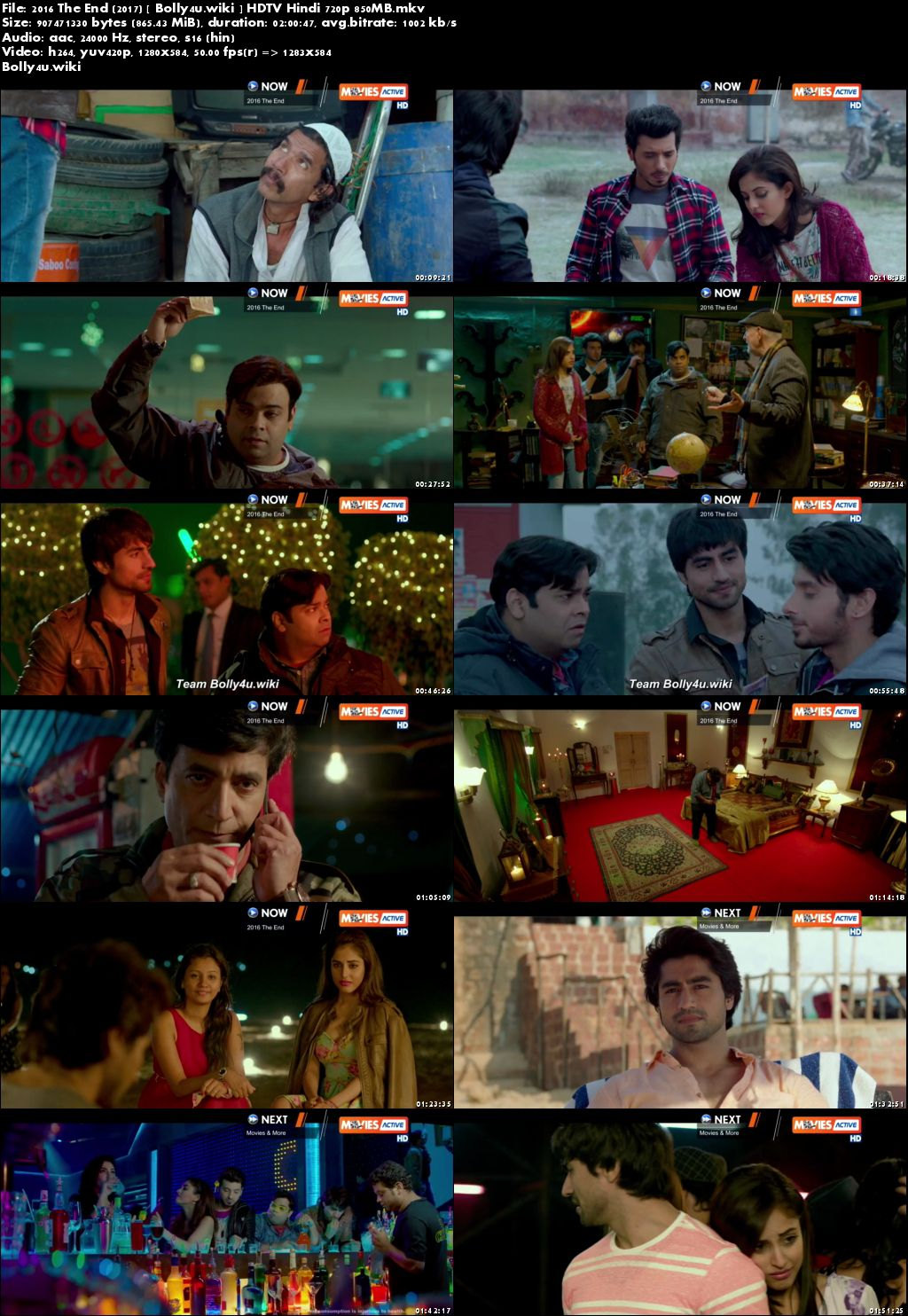 2016 The End 2017 HDTV 350MB Full Hindi Movie Download 480p