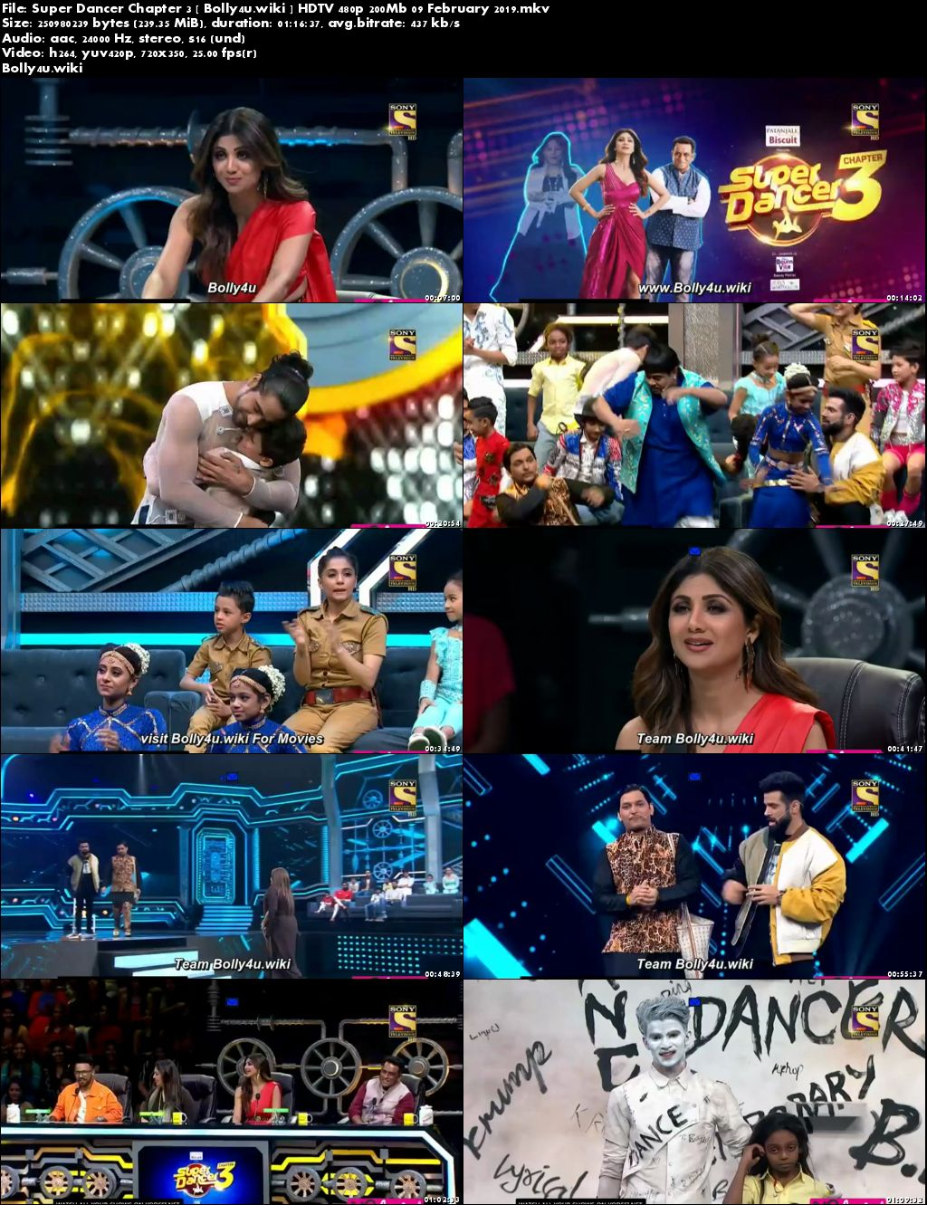 Super Dancer Chapter 3 HDTV 480p 200Mb 09 February 2019 Download