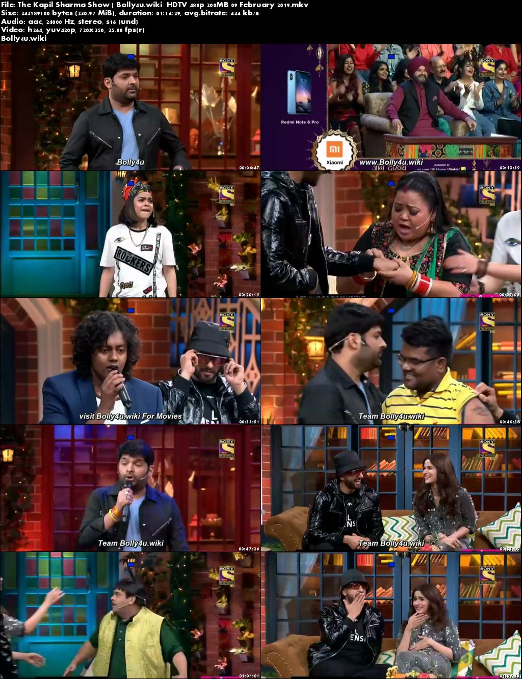 The Kapil Sharma Show HDTV 480p 200MB 09 February 2019 Download