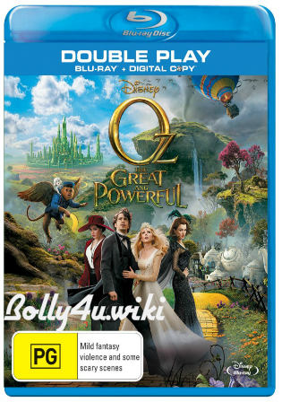 Oz The Great And Powerful 2013 BRRip 400MB Hindi Dual Audio 480p