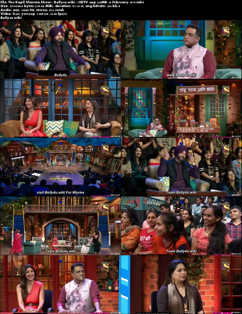 The Kapil Sharma Show HDTV 480p 250MB 10 February 2019 Download