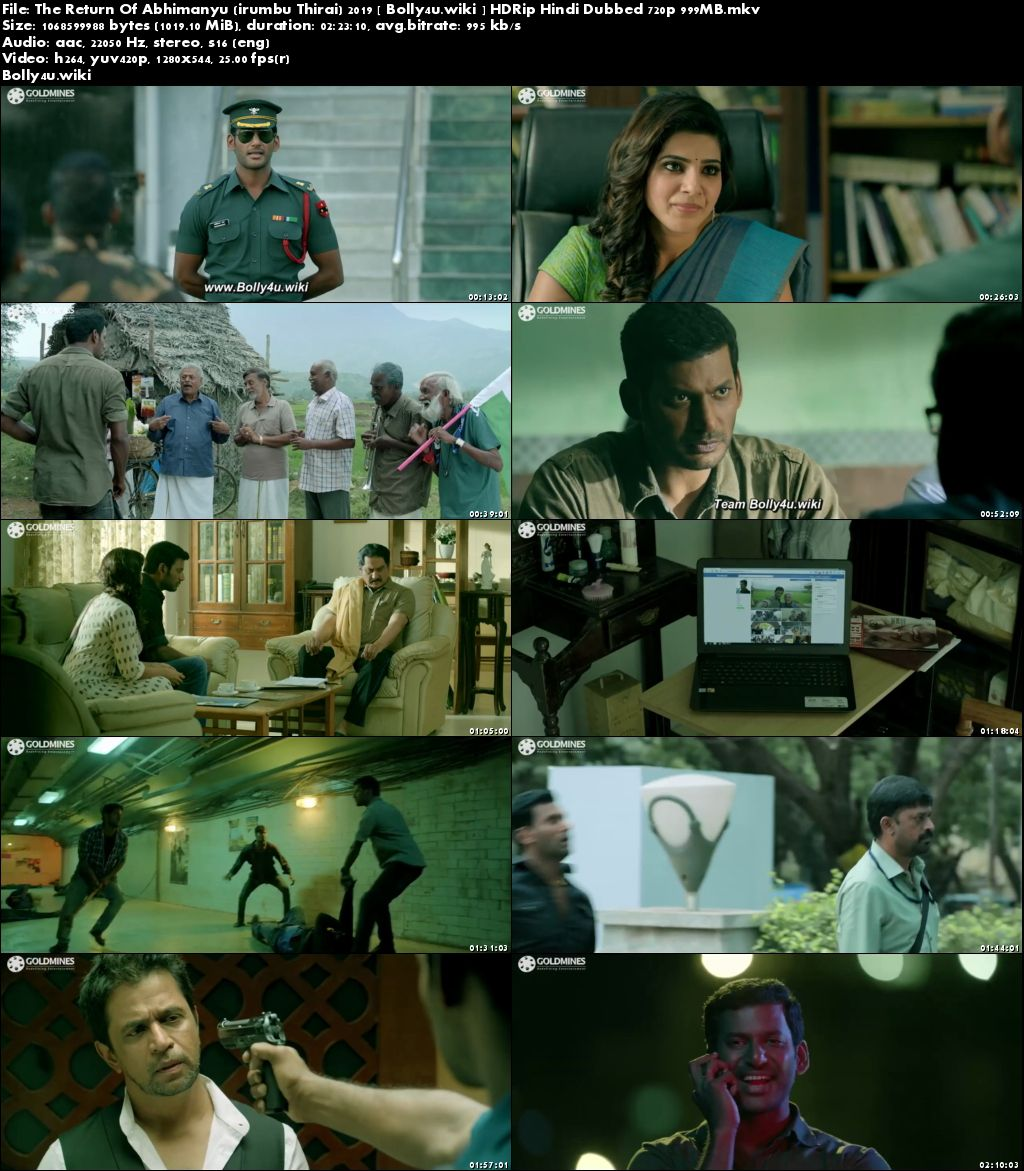 The Return Of Abhimanyu 2019 HDRip 999MB Hindi Dubbed 720p Download