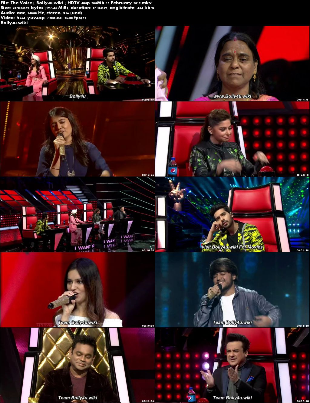 The Voice HDTV 480p 200Mb 10 February 2019 Download