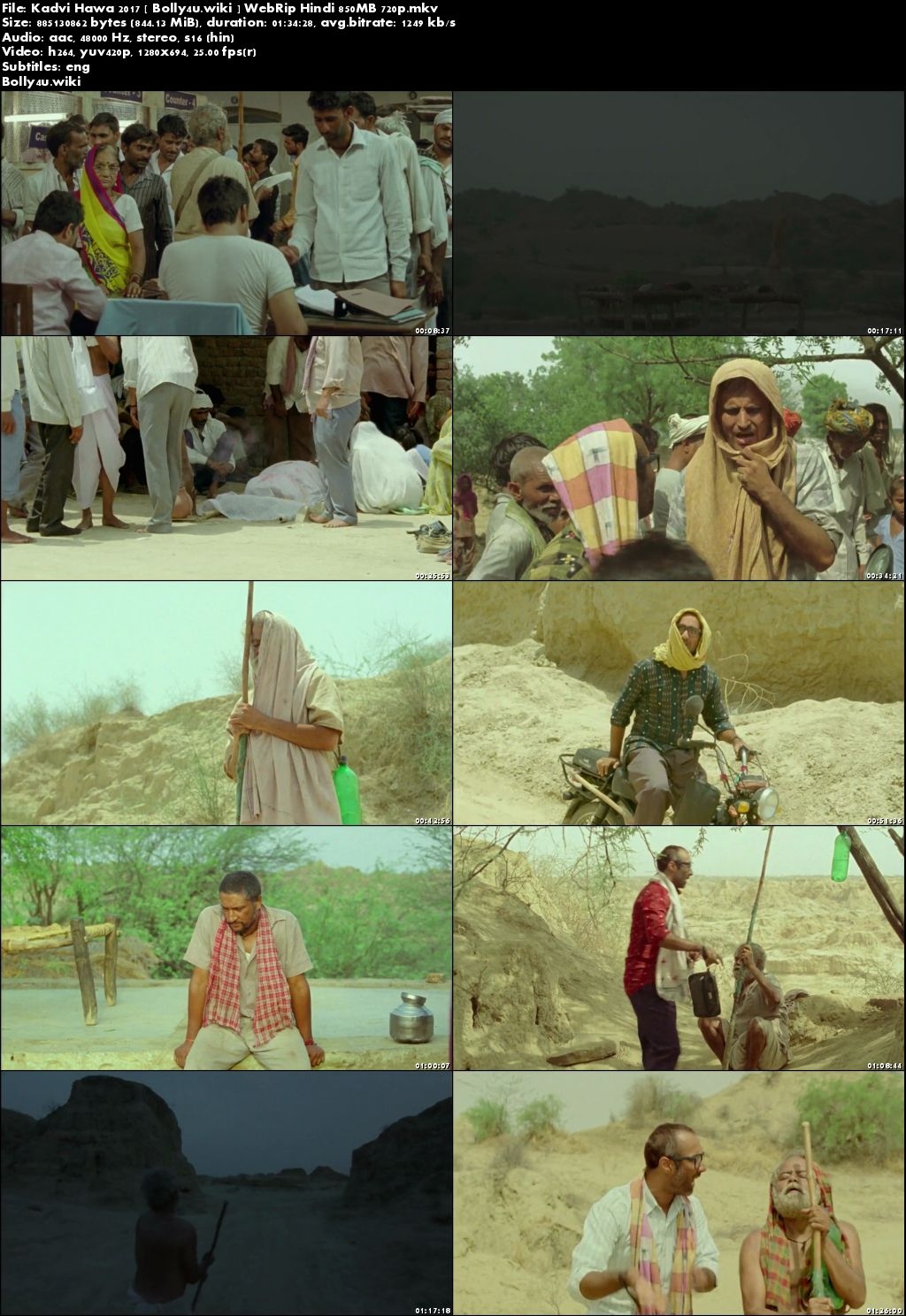 Kadvi Hawa 2017 WEBRip 850Mb Full Hindi Movie Download 720p