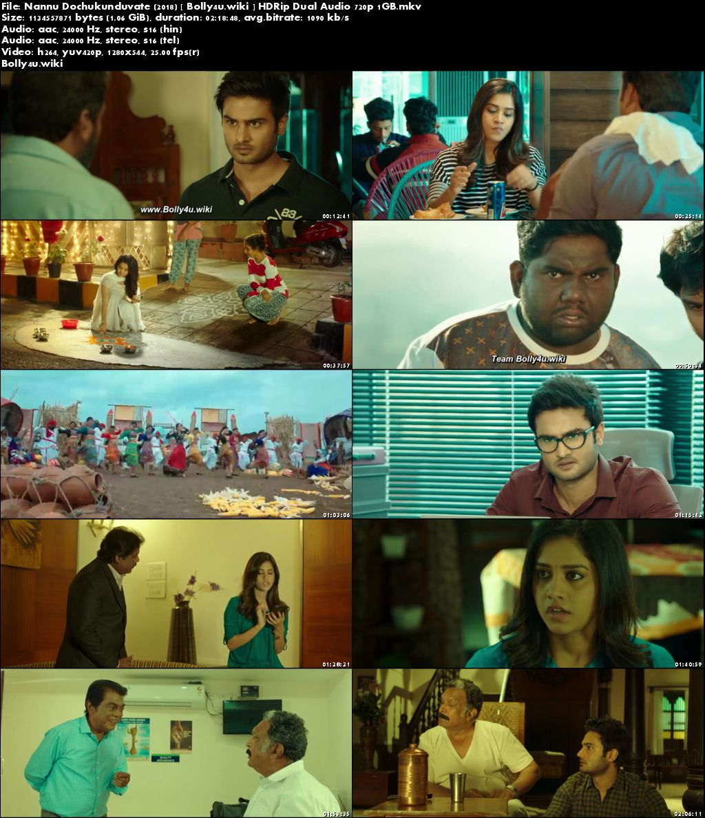 Nannu Dochukunduvate 2018 HDRip 400MB UNCUT Hindi Dual Audio 480p Download