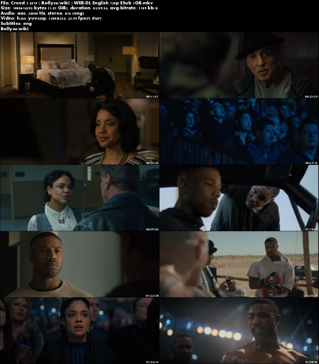 Creed 2 2019 WEB-DL 350MB English 480p ESub Download