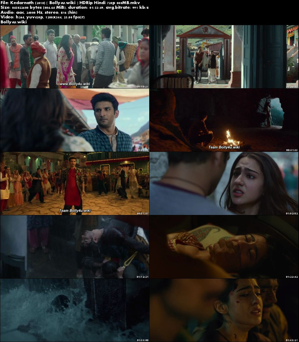 Kedarnath 2018 HDRip 350Mb Full Hindi Movie Download 480p