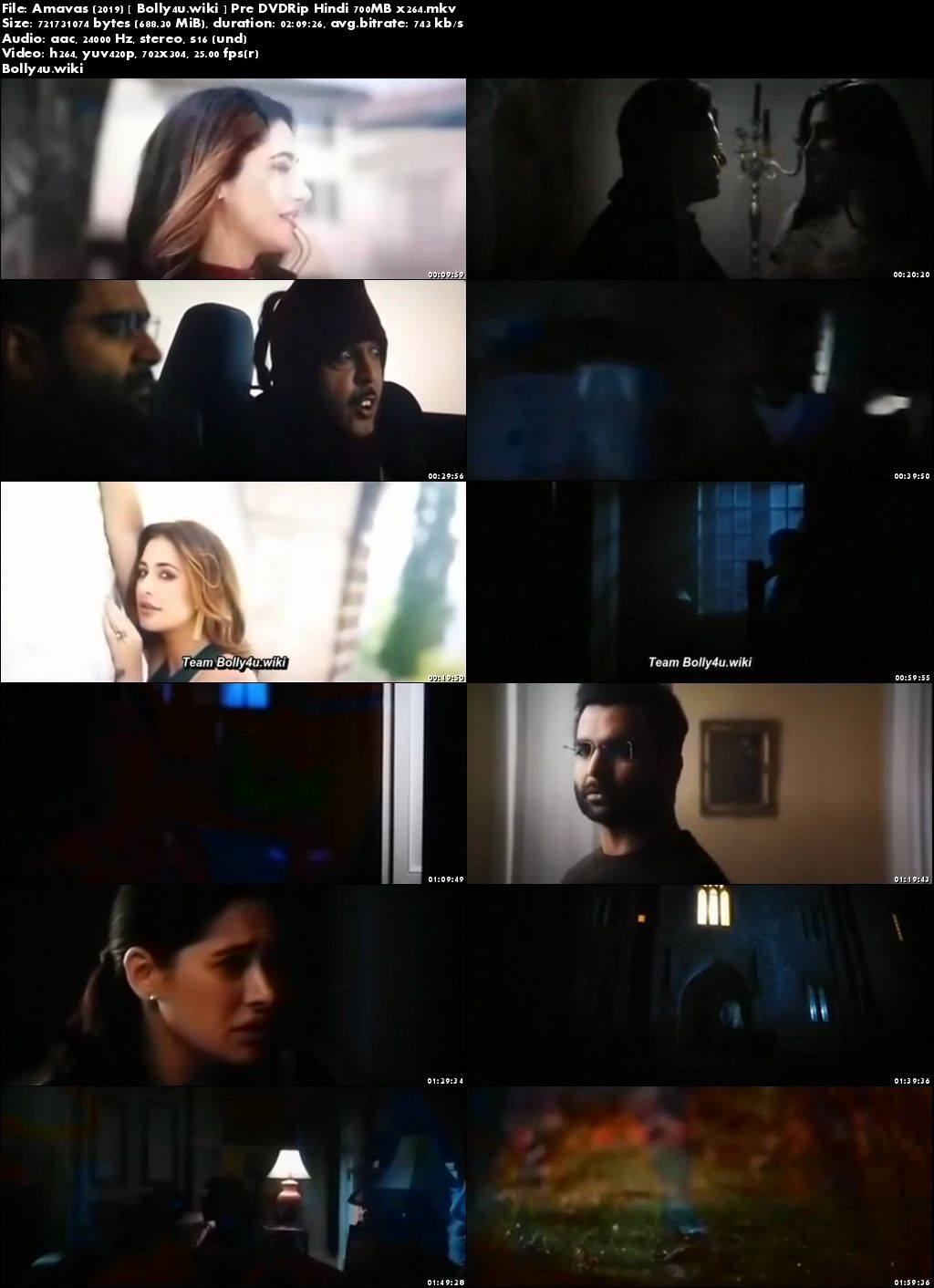 Amavas 2019 Pre DVDRip 700MB Full Hindi Movie Download x264