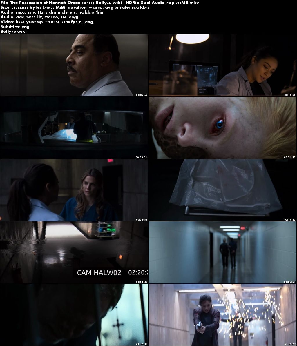 The Possession of Hannah Grace 2019 HDRip 280MB Hindi Dual Audio 480p Download