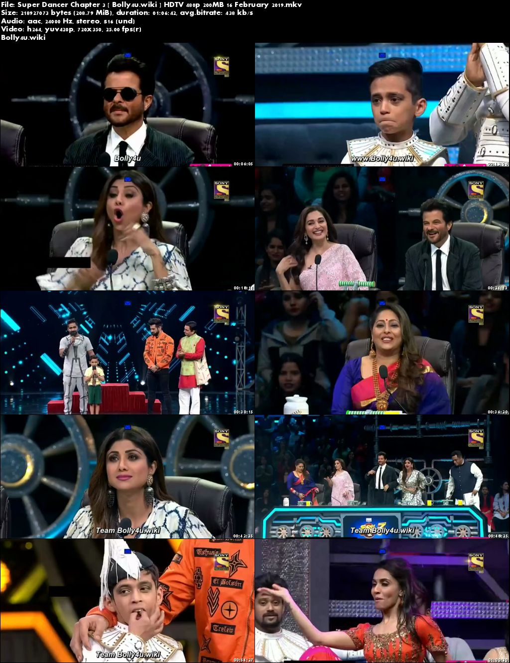 Super Dancer Chapter 3 HDTV 480p 200MB 16 February 2019 Download