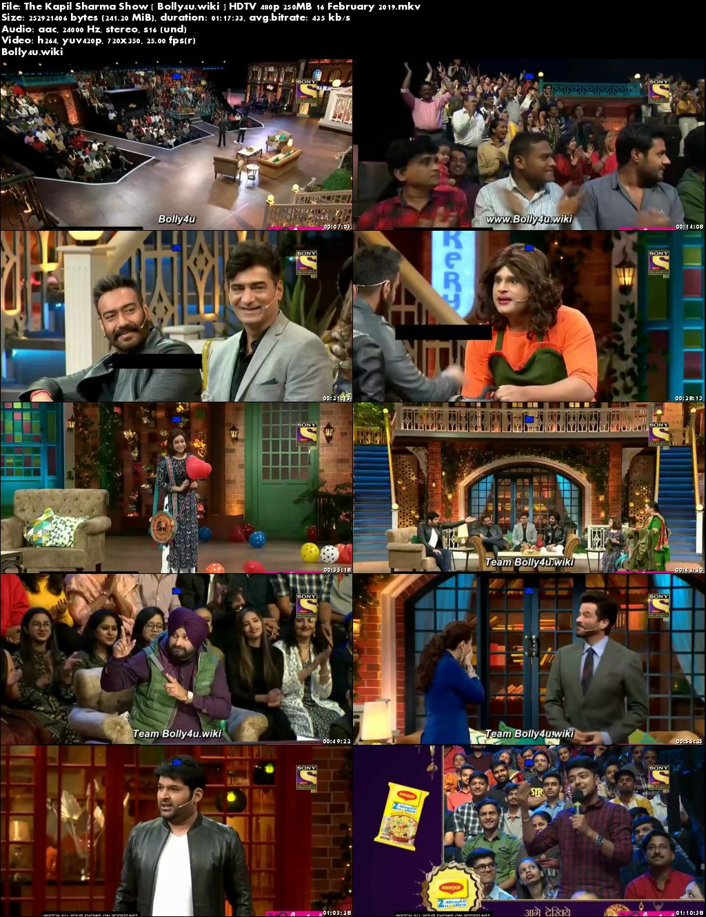 The Kapil Sharma Show HDTV 480p 250MB 16 February 2019 Download