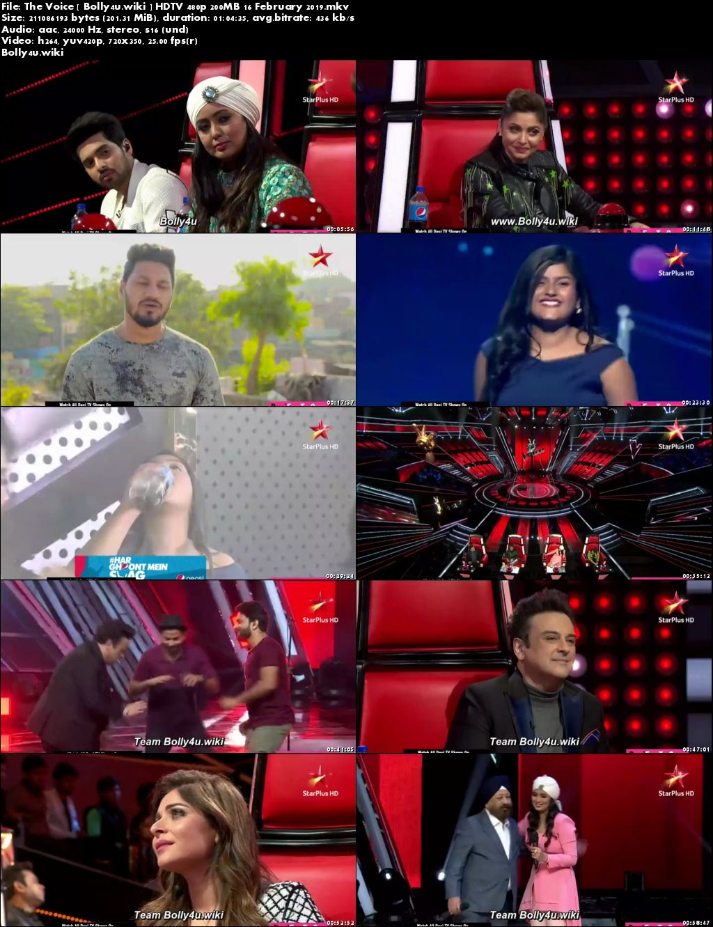 The Voice HDTV 480p 200MB 16 February 2019 Download