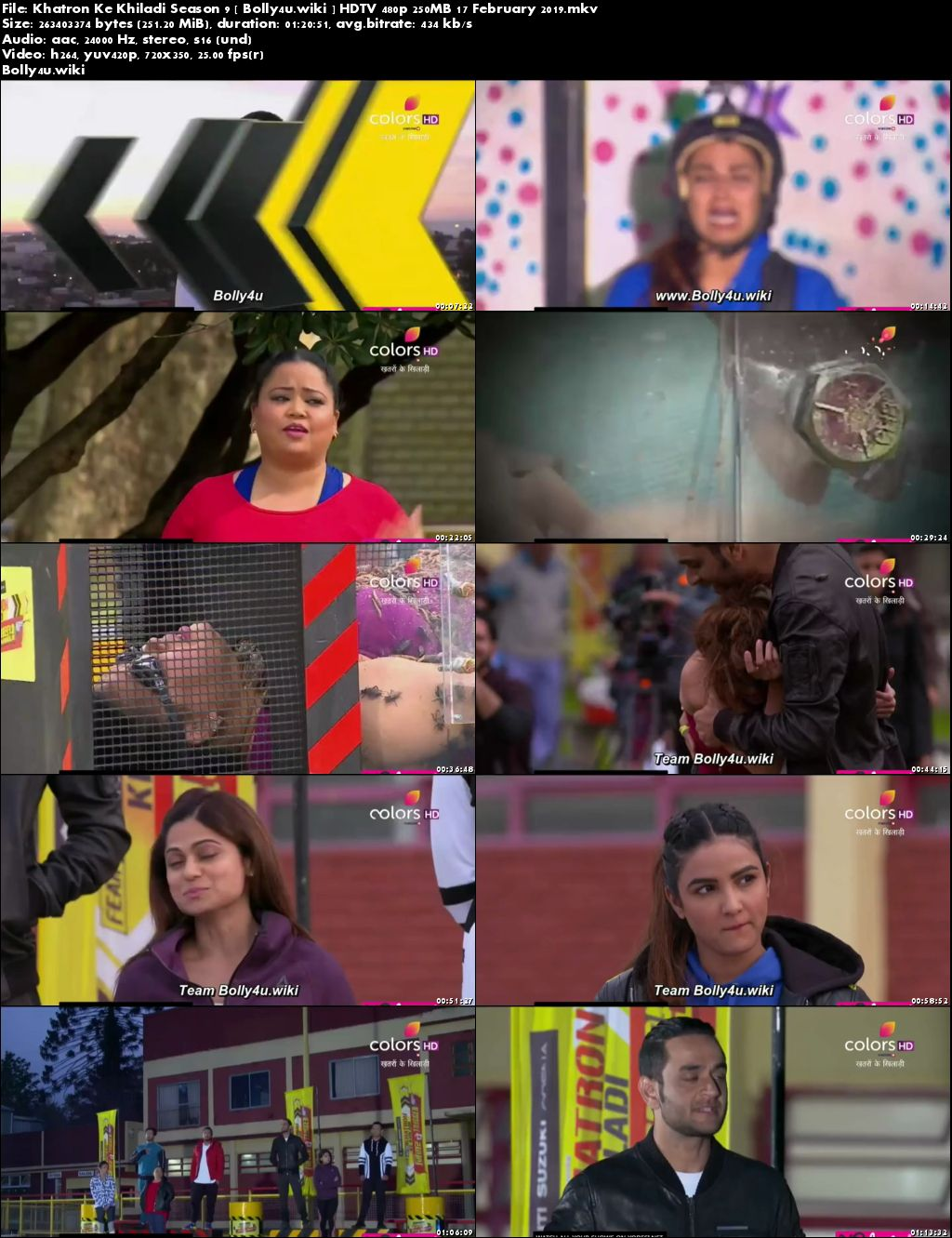 Khatron Ke Khiladi Season 9 HDTV 480p 250MB 17 February 2019 Download