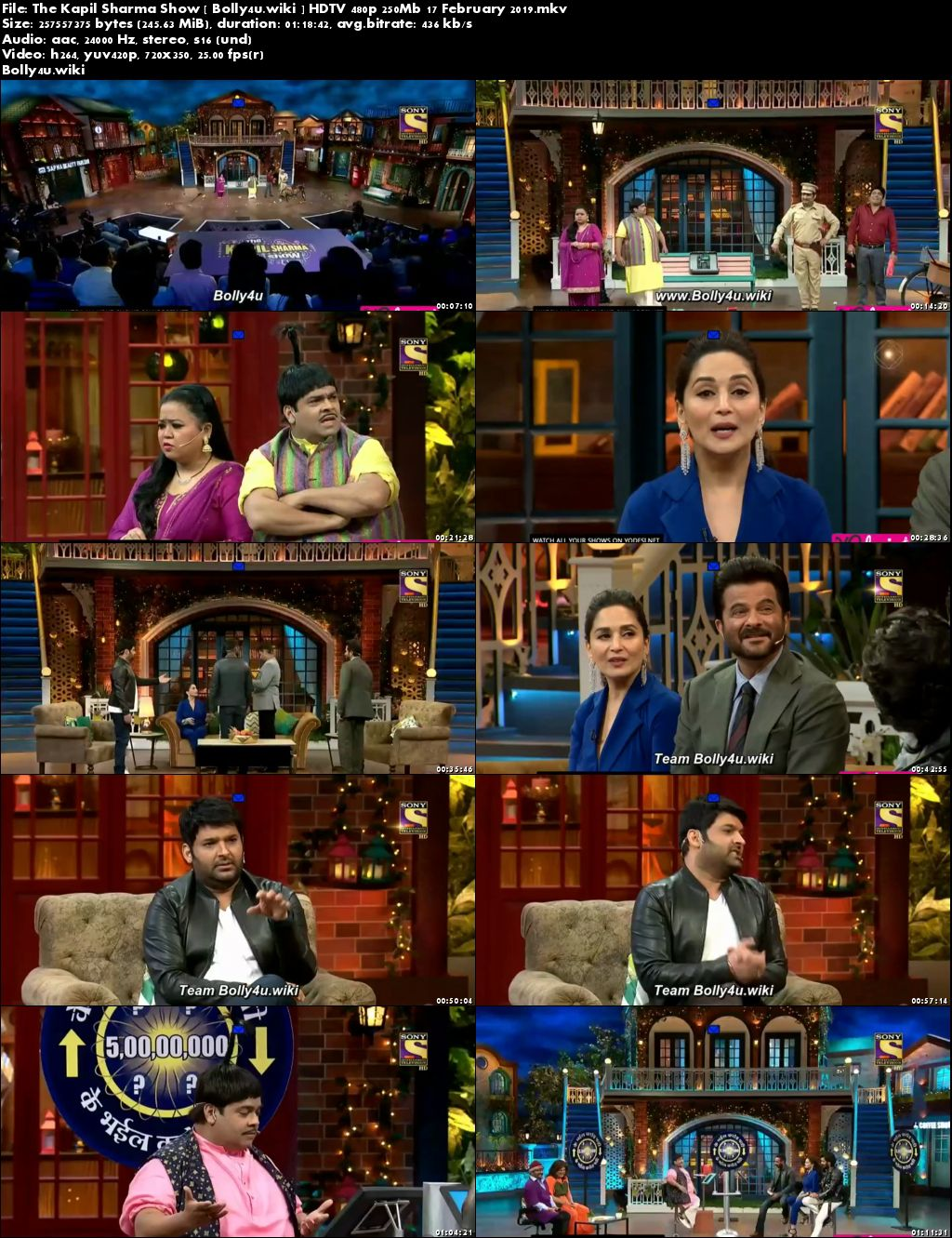 The Kapil Sharma Show HDTV 480p 250Mb 17 February 2019 Download
