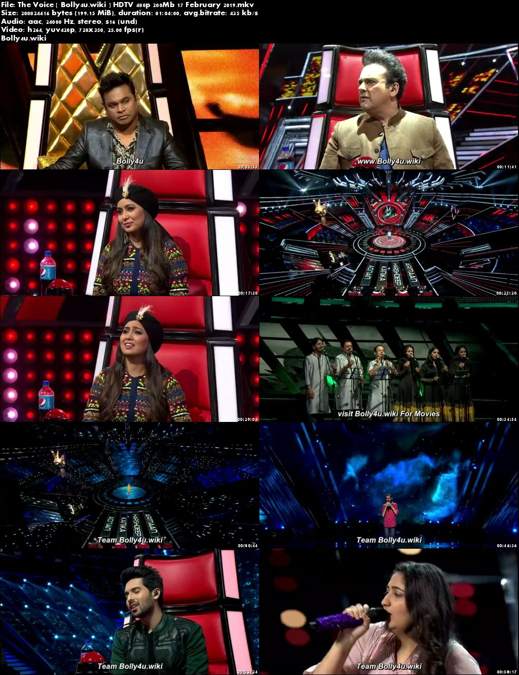 The Voice HDTV 480p 200Mb 17 February 2019 Download