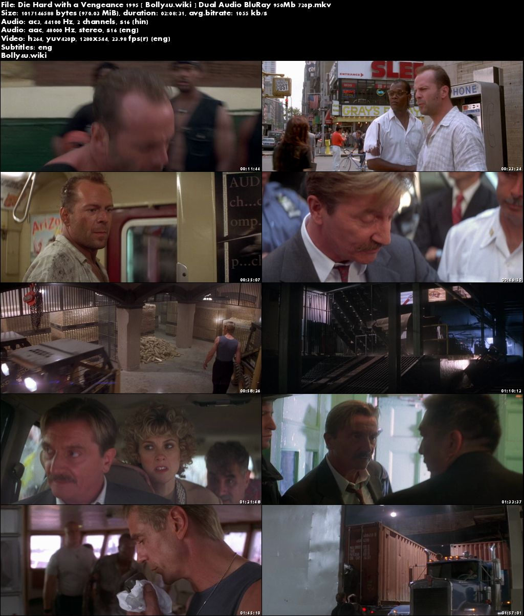 Die Hard with a Vengeance 1995 BRRip 400Mb Hindi Dual Audio 480p Download