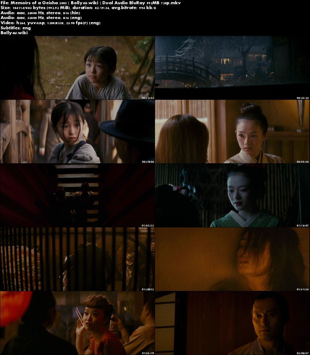 Memoirs of A Geisha 2005 BRRip 400Mb Hindi Dual Audio 480p Download
