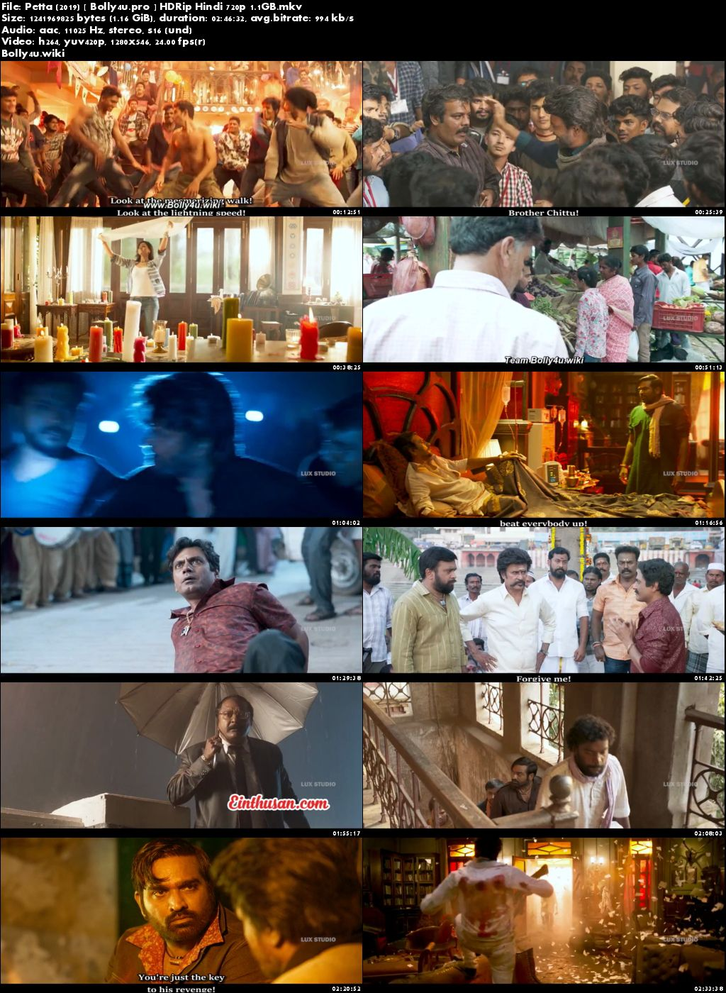Petta 2019 HDRip 1.1Gb Full Hindi Movie Download 720p