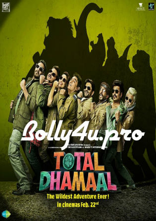 Total Dhamaal 2019 Pre DVDRip 350Mb Full Hindi Movie Download 480p Watch Online Free bolly4u