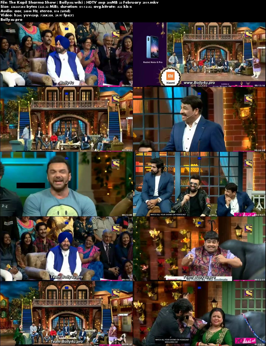 The Kapil Sharma Show HDTV 480p 200MB 23 February 2019 Download