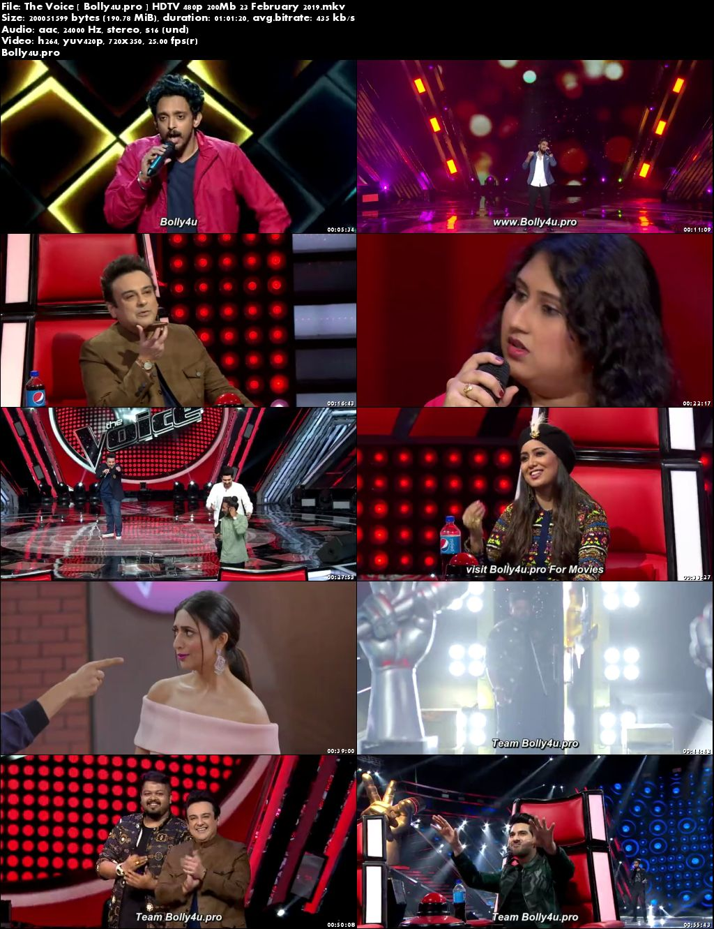 The Voice HDTV 480p 200Mb 23 February 2019 Download