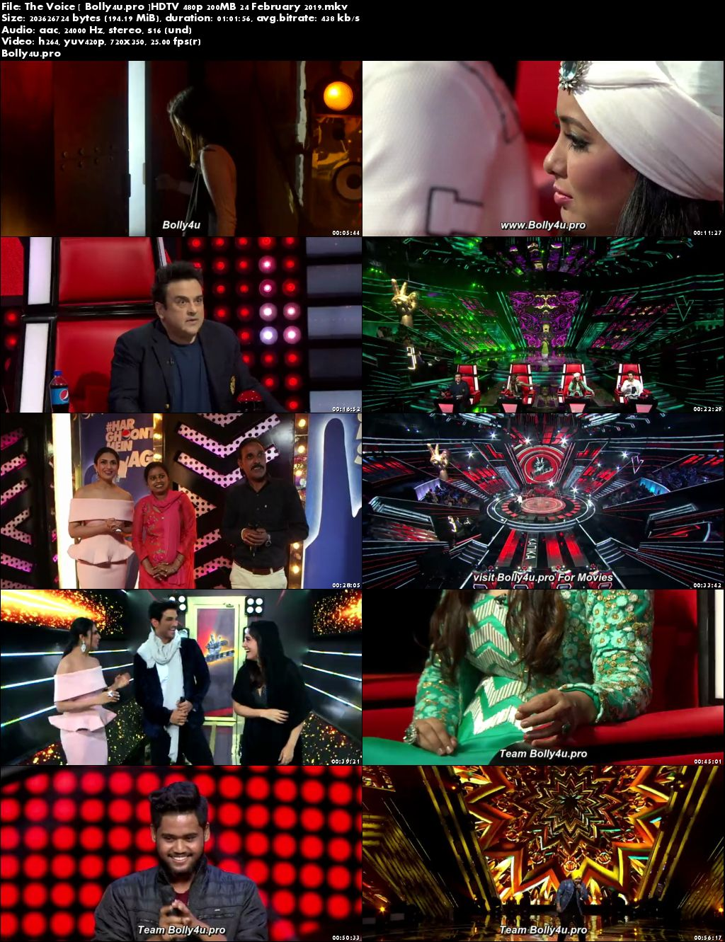 The Voice HDTV 480p 200MB 24 February 2019 Download