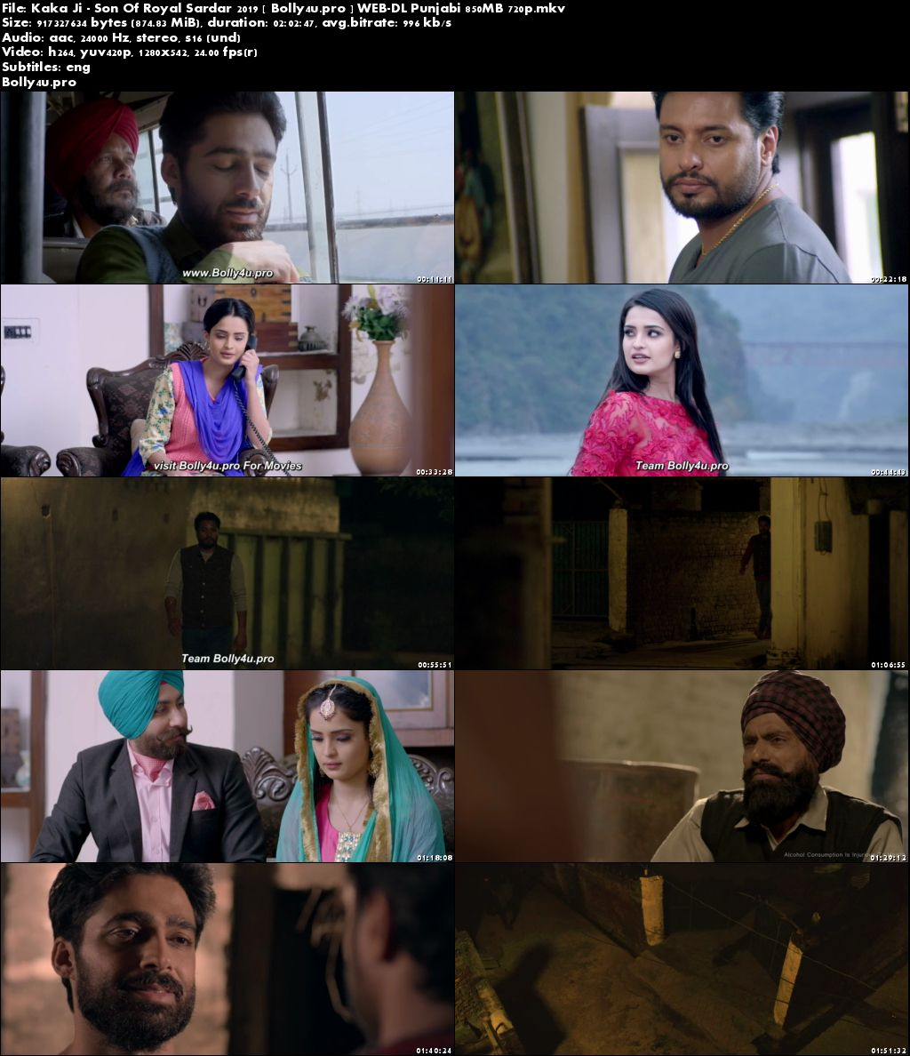 Kaka Ji Son Of Royal Sardar 2019 WEB-DL 850MB Punjabi 720p Download