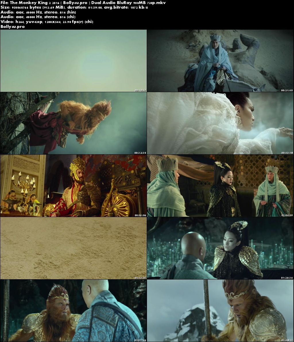 The Monkey King 2 2016 BRRip 900MB Hindi Dual Audio 720p Download