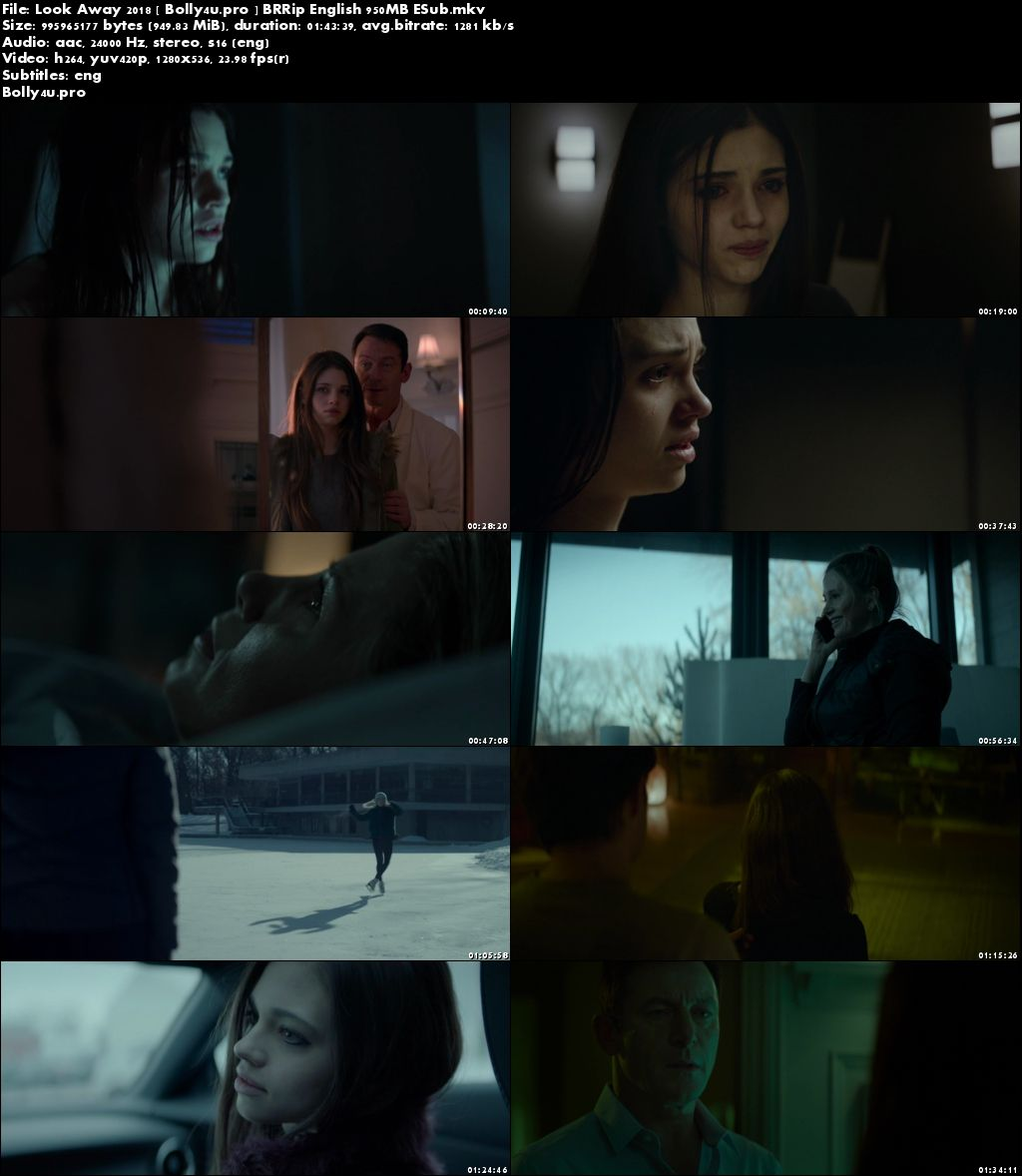 Look Away 2018 BRRip 300Mb English 480p ESub Download
