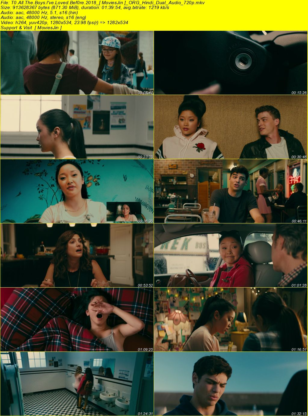 Watch Online To All the Boys I've Loved Before 2018 Movie Hindi ORG Dual Audio 720p Full Movie Download 300mbMovies 9xmovies 8xfilms 7srarhd downloadhub