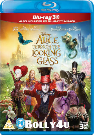 Alice Through The Looking Glass 2016 BRRip 300MB Hindi Dual Audio 480p ESub Watch Online Full Movie Download bolly4u