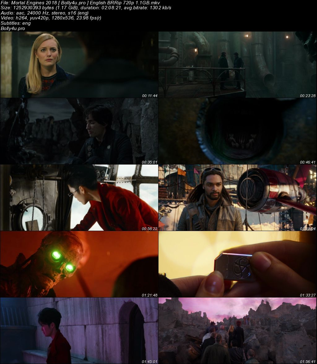 Mortal Engines 2018 BRRip 1.1GB English 720p ESub Download