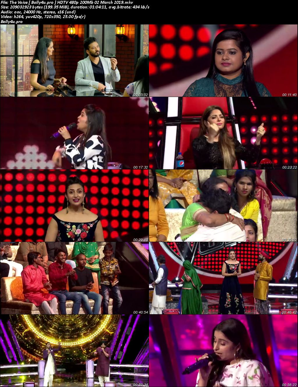 The Voice HDTV 480p 200Mb 02 March 2019 Download