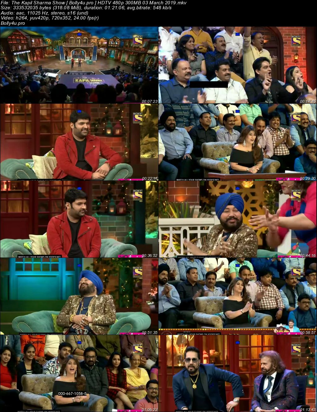 The Kapil Sharma Show HDTV 480p 300MB 03 March 2019 Download
